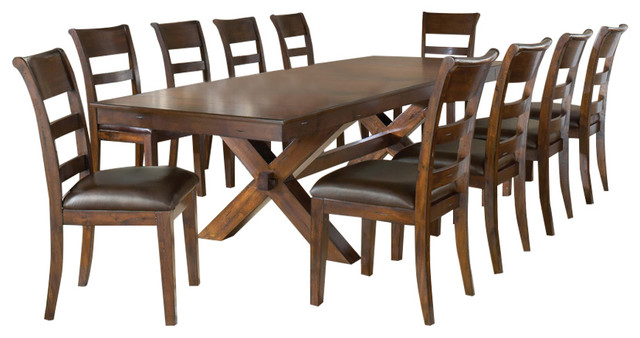 Perfect Hillsdale Park Avenue 11 Piece Trestle Dining Room Set In Dark Cherry  Traditional Dining