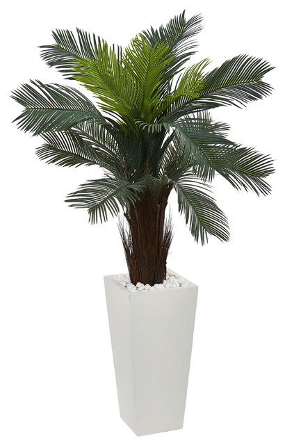 4 5 Quot Cycas Artificial Plant White Tower Planter