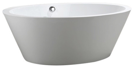 "Udine 67"" Freestanding Bathtub, Glossy White."