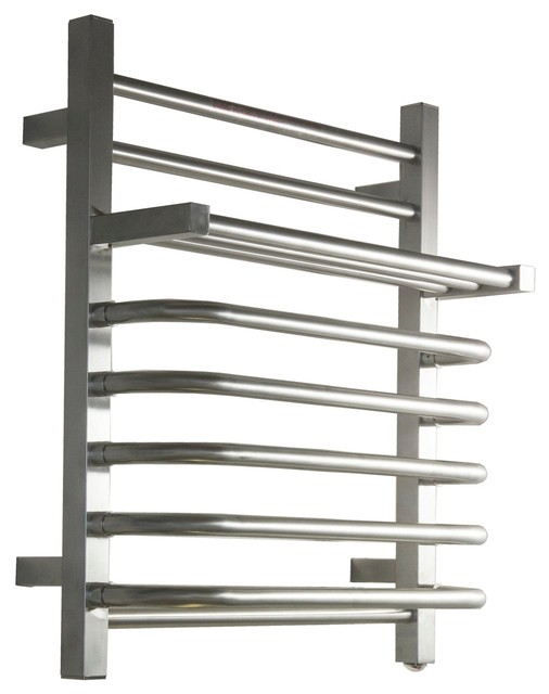 Koze 118 Wall Mounted Electric Towel Warmer Brushed Nickel 20 3