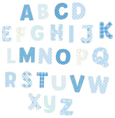 Nursery Alphabet Wall Decals, Blue Modern Wall Decals