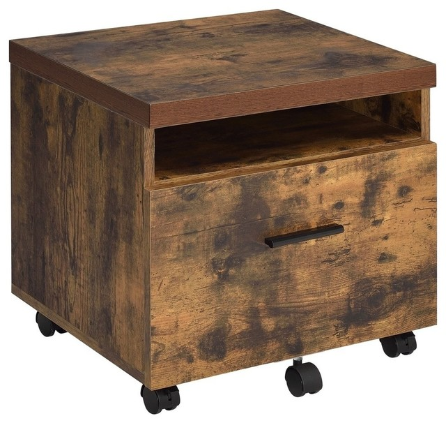 Acme Bob File Cabinet, Weathered Oak - Transitional - Filing Cabinets - by Acme Furniture