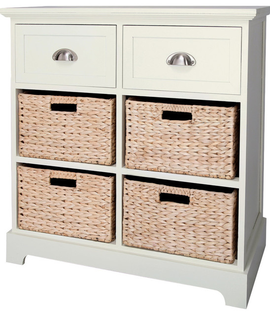 Gallerie Decor - Newport Two Drawer Four Basket Table - View in Your Room! | Houzz