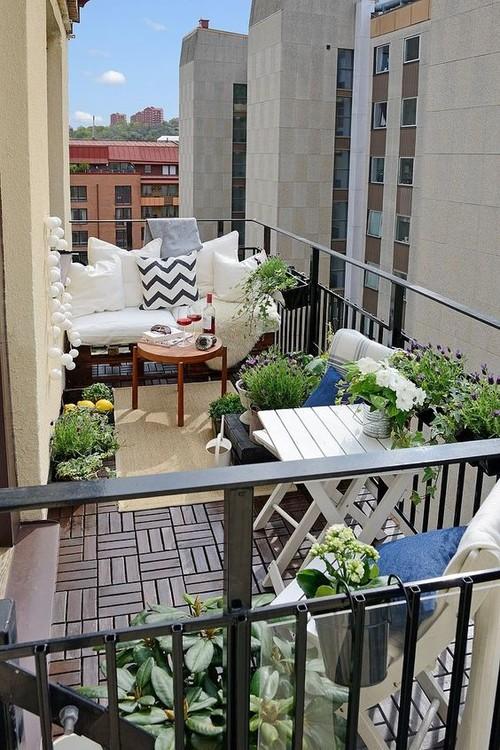 Lounge Liege Balkon Wohn Design