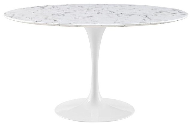 Modway Lippa Faux Marble Top Dining Table White 27 5