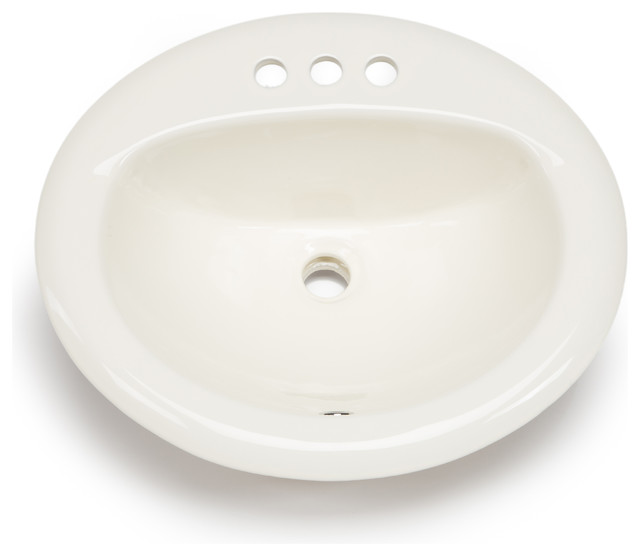 Hahn Hahn Ceramic Bathroom Large Oval Bowl Drop-In - Bathroom ...