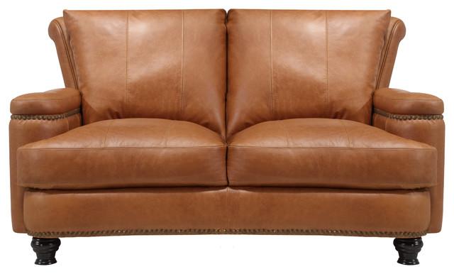 Payton Italian Leather Love Seat.