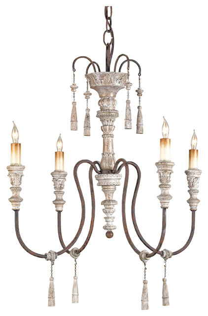 Katrine Gustavian Iron And Wood Chandelier 22 Inch Transitional Chandeliers