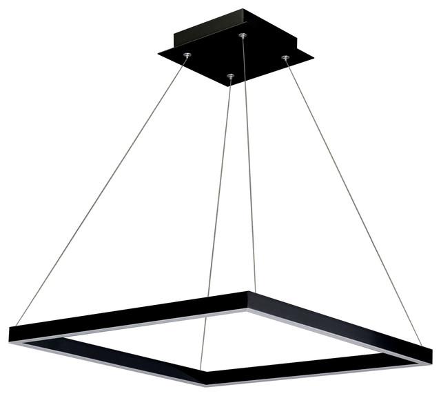 Atria Adjustable Led Chandelier Black Modern Pendant