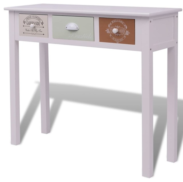 Vidaxl Shabby Chic French Console Table Coastal Console Tables
