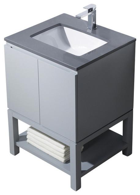 Bathroom Sinks For Quartz Countertops emmet 25 vanity - bathroom vanities and sink consoles -
