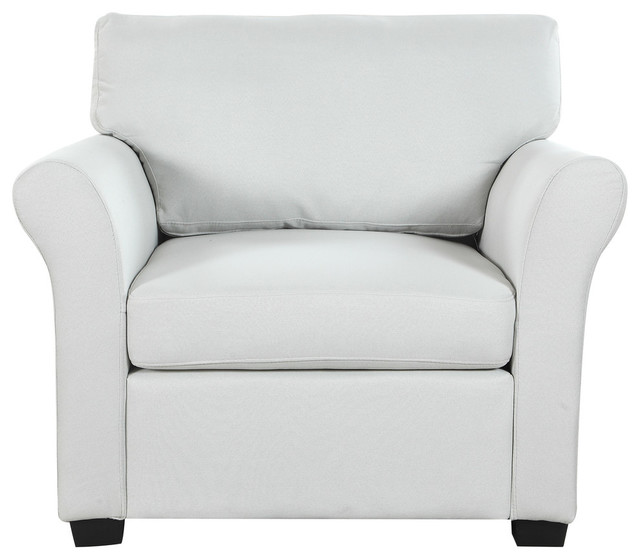Classic and Traditional Linen Fabric Accent Chair, Living Room ...