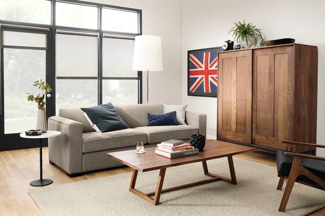 Ian Sofa And Davis Cocktail Table By Ru0026B Modern Living Room