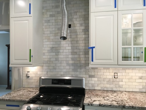 Don\'t like our just installed backsplash!