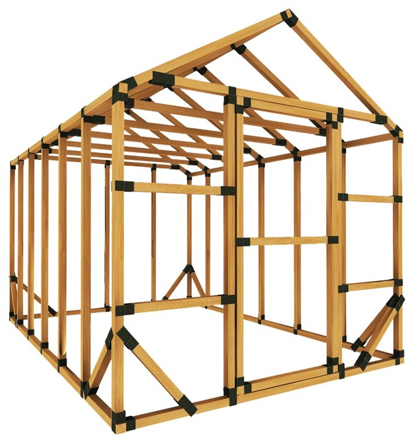8x12 Standard Storage Shed Kit, With Floor Framing