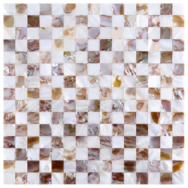 Free Shipping 4pcs Shell Pearl Beach Wall Painting Print: Mother Of Pearl Mosaic Wall Tiles Natural Chess Board