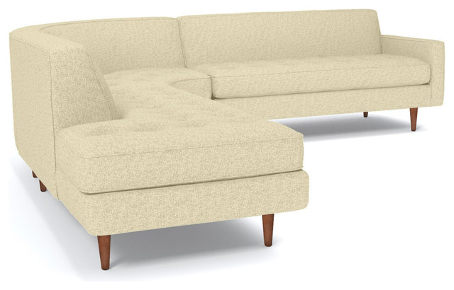 Monroe 3-Piece Sectional Sofa, Bisque, Chaise on Left