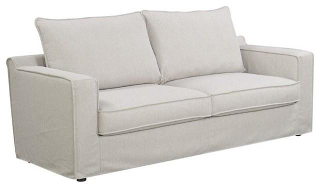 Serta Colton Sofa With Slipcover, Light Beige.