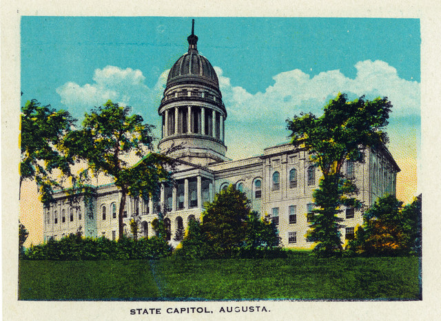 Quot Augusta Maine Exterior View Of The Capitol Building