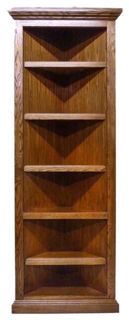 Traditional Oak Corner Bookcase