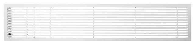 "Ag20 Series 6""x 48"" Left Door Solid Aluminum Fixed Bar, White-Matte"