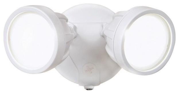All Pro Dusk To Dawn Led Outdoor Flood Light White 1600 Lumens