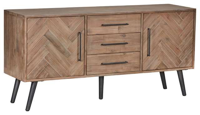 Kosas Home Soren 3-Drawer, 2-Door Sideboard.