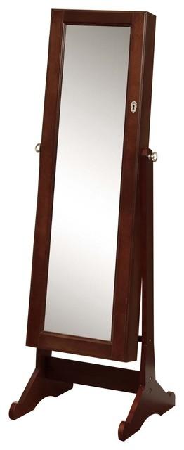 Premium Cherry Cheval Mirror Jewelry Cabinet Armoire Box, Stand Organizer Case.