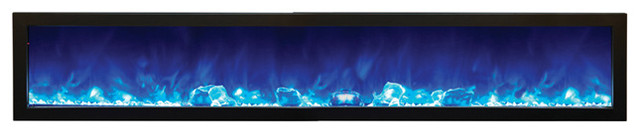 "Indoor Panorama Series Slim Electric Fireplace, 88""."