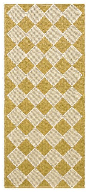 Dialog Woven Vinyl Floor Cloth, Yellow, 70x200 cm
