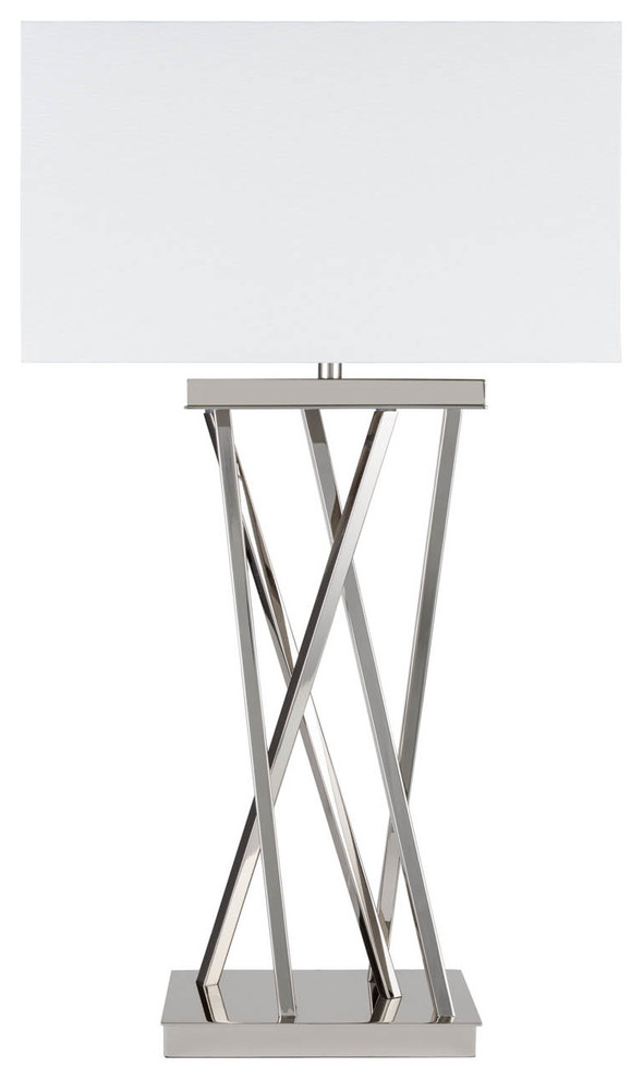 Finesse Decor Straight Chrome Table Lamp
