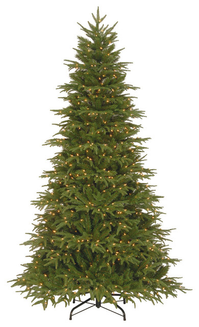 7.5' Feel-Real Northern Frasier Hinged Tree With 800 Clear Lights