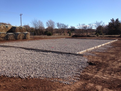 New Metal Building Pad Ready For Concrete Customer Wants