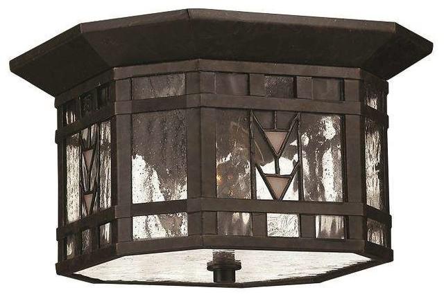 Hinkley Lighting 2243rb, Tahoe Outdoor Ceiling Light, Regency Bronze