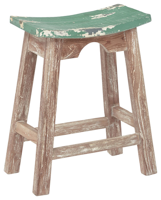 Osp Designs 24 Quot Saddle Stool With White Wash Base Rustic