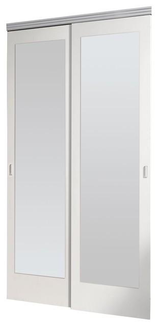 Riggins Mirrored Sliding Closet Doors Primed