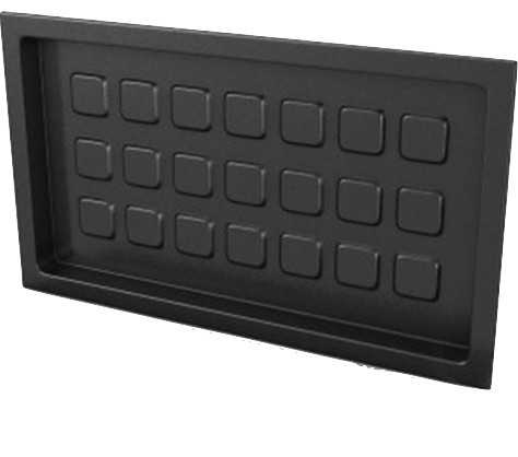"""Crawl Space Recessed Foundation Vent Cover, 8""""x16"""" Openings."""