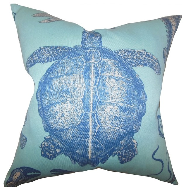 Coastal Inspired Throw Pillows : Aeliena Coastal Pillow Sky Blue - Beach Style - Decorative Pillows - by The Pillow Collection