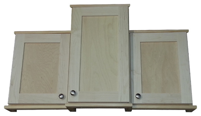 "Danville Series Offset 9 Cabinet 24"" High, Multiple Depths Available, Unfinished - Contemporary ..."