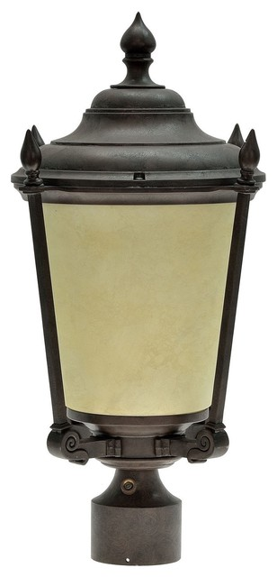 60012 1 Light Medium Outdoor Post Light Fixture Antique Bronze 20 1 2 High