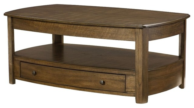 Hammary Primo Rectangular Lift Top Cocktail Table Transitional