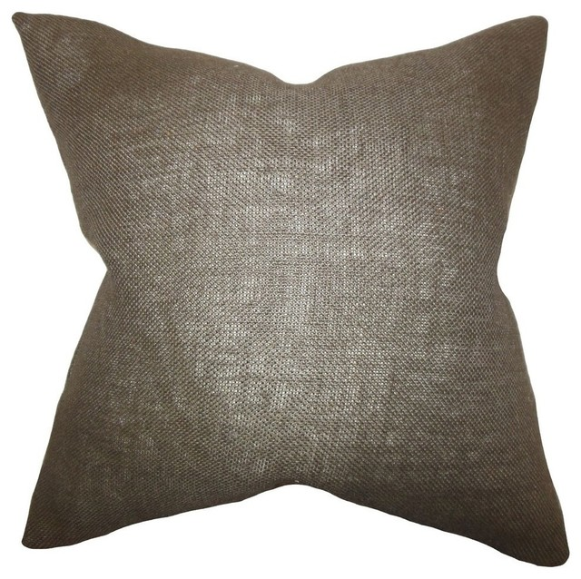 Ellery Solid Pillow Brown - Contemporary - Decorative Pillows - by The Pillow Collection