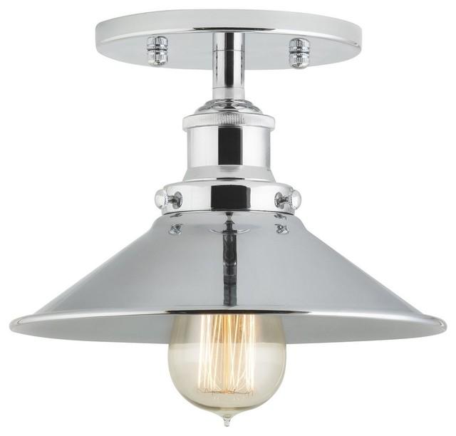 Andante industrial semi flushmount ceiling lamp for Industrial flush mount lighting