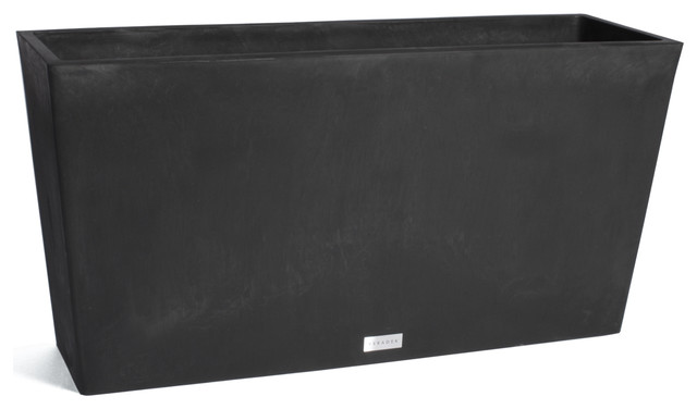 Remedy Trough Planter Box, Black, 39.