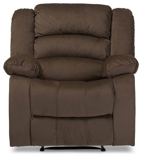Upholstered Recliner In Taupe