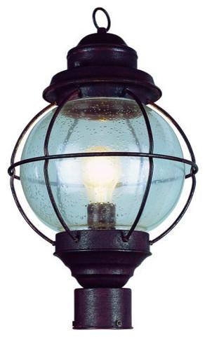 Trans Globe Lighting 69902 Rbz Onion 1-Light Post Lantern, Rustic Bronze.