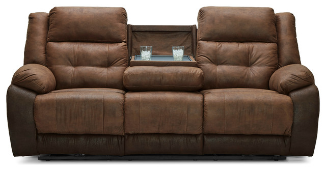 Admirable 56411 65 Commander Mocha Motion Sofa With Table Manual Lamtechconsult Wood Chair Design Ideas Lamtechconsultcom
