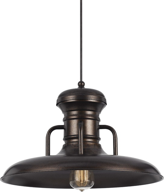 Line Voltage Uni Pack Pendants Pendant Lamp, Rust.