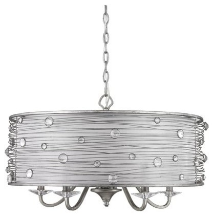 5 light chandelier peruvian silver with sterling mist shade 5 light chandelier peruvian silver with sterling mist shade aloadofball Choice Image