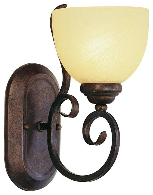 One light rubbed oil bronze champagne swirl glass bathroom - Champagne bronze bathroom vanity light ...